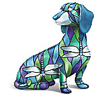Beauty Of Tiffany Stained-Glass Style Dachshund Figurine Collection