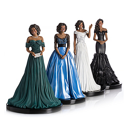 First Lady Michelle Obama: Reflection Of Style & Grace Figurine Collection