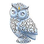 Thomas Kinkade Crystal Owls Of Elegance Figurine Collection