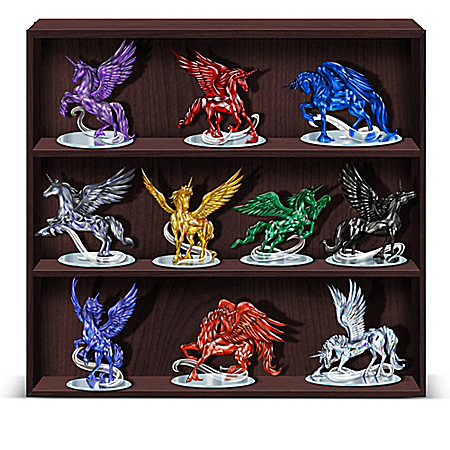 Rarest Gem Unicorns Of The World Handcrafted Figurine Collection