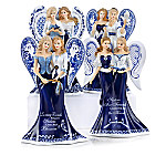 Blue Willow Sisterly Love Angel Figurine Collection