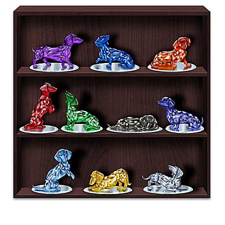 Blake Jensen Rare Gems of the World Crystalline Dachshund Figurine Collection