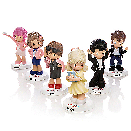 Precious Moments Grease Figurine Collection With Sandy, Danny, Rizzo And More