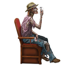 """""""Stalking Dead"""" Zombie Poker Figurine Collection And Display"""