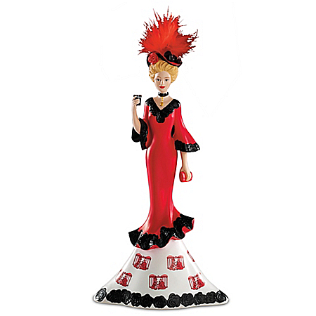Refreshing Beauty Of Coca-Cola Vintage-Style Coca-Cola Girl Figurine Collection