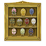 The Ultimate Peter Carl Faberge Egg Curio Figurine Collection With Swarovski Crystals