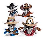 Bones And Steel Cowboy Skull Sculpture Collection