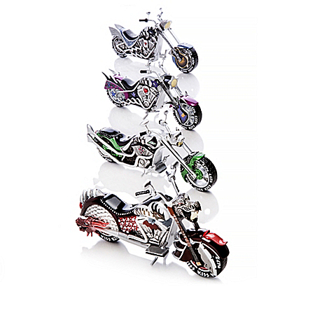 KISS Motorcycle Sculpture Collection Inspired By Gene Simmons And KISS Band Members