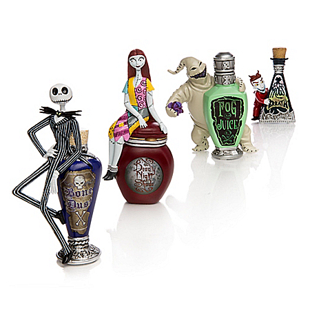 Disney Tim Burton's The Nightmare Before Christmas Wicked Brew Figurine Collection