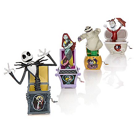 "Disney Tim Burton's The Nightmare Before Christmas ""Jack"" In The Box Figurine Collection"