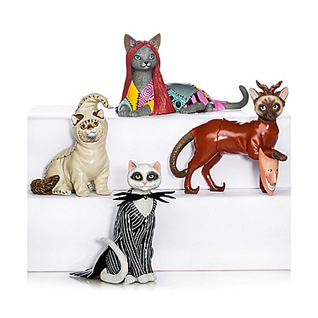 Disney Tim Burton's The Nightmare Before Christmas Cat Figurine Collection