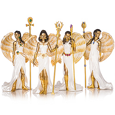 Empowering Faith Angels By Keith Mallett Hand-Painted Figurine Collection