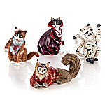 Blake Jensen's All Meow-llows Eve Cat Figurine Collection