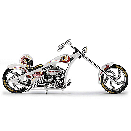 Washington Redskins Motorcycle Handcrafted Figurine Collection