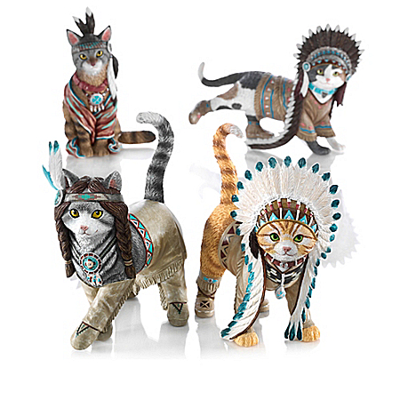 Feathers 'N Fur Kittens Figurine Collection