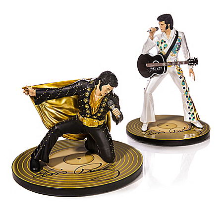 Reflections Of A King Sculpture Collection Elvis Presley Handcrafted Sculpture