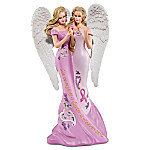 Thomas Kinkade Angelic Sisters Of Hope Breast Cancer Awareness Figurine Collection