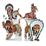 Feathers 'N Fur Native American Inspired Dachshund Figurine Collection