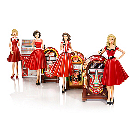 Handcrafted Rockin' With COCA-COLA Figurine Keepsake Collection