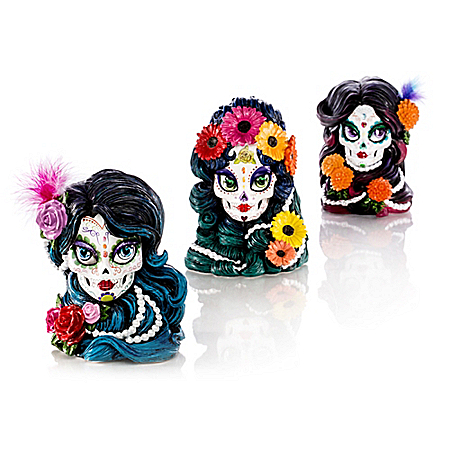 Sugar Skull Maidens Decorated By Blake Jensen Figurine Collection