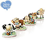 Precious Moments Our Perfect Pony Tales Cowboy Figurine Collection