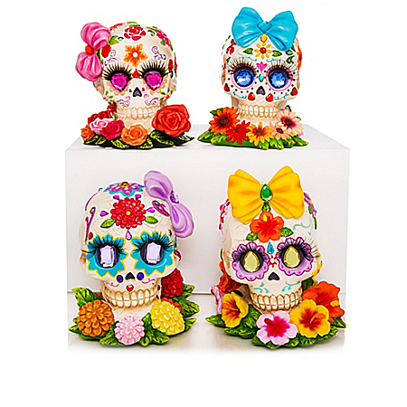 Day Of The Dead Sugar Skull Divas By Margaret Le Van Figurine Collection