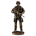 A Hero's Fighting Spirit Cold-Cast Bronze Finish Sculpture Collection