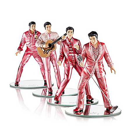 Rock Pink With Elvis Presley Breast Cancer Awareness Figurine Collection