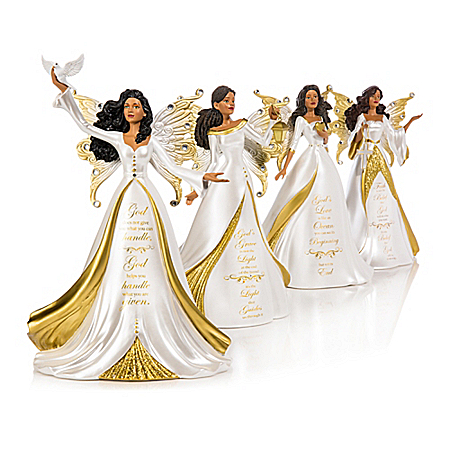 Keith Mallett My Strength, My Hope Angel Figurine Collection