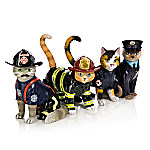 Furr-ever Cat Firefighter Figurine Collection