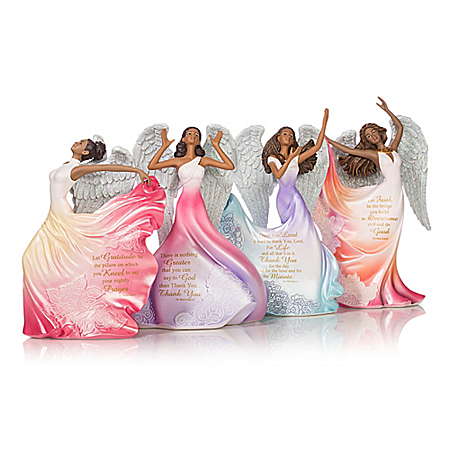 Maya Angelou's Angels Of Inspiration Handcrafted Angel Figurine Collection