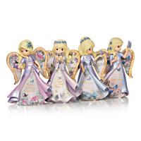 Precious Moments Lena Liu Butterfly Kisses Alzheimer's Awareness Angel Figurine Collection