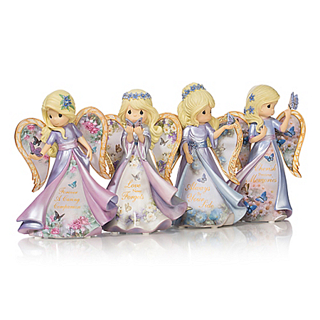Precious Moments Angel Figurines with Lena Lui Art Support Alzheimer's Research