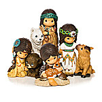 Precious Moments Spirit Of Sacred Hearts Native American Style Figurine Collection