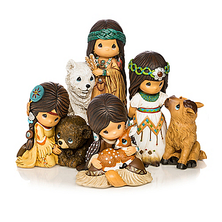 Precious Moments Sacred Hearts Native American Style Figurine Collection