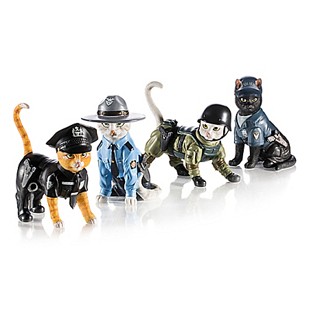 To Purr-tect & Serve Cat Figurine Collection