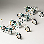 American Spirit Trail Blazers Hand-Painted Motorcycle Sculpture Collection