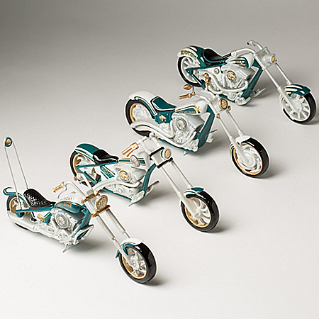 Motorcycle Sculptures with Indian Head Nickel Artwork: Hamilton Collection