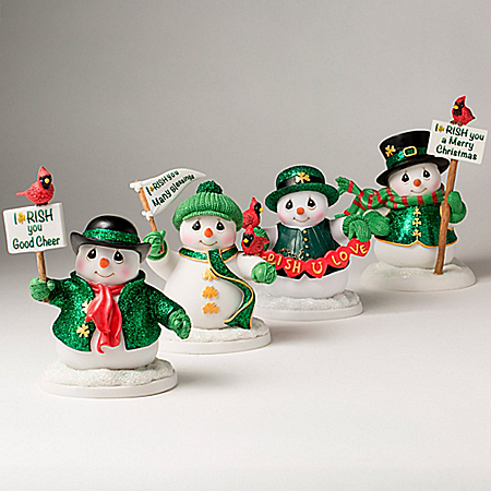 Precious Moments Irish You Many Blessings Snowman Figurine Collection