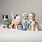 Tender Purring Care Nurse Cat Figurine Collection