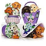 Love Never Paw-gets Dachshund Alzheimer's Awareness Figurine Collection