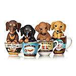 Kayomi Harai Dachshund Coffee Mug Pups Figurine Collection