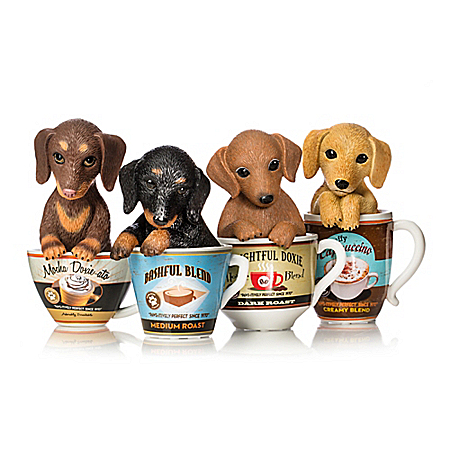 Kayomi Harai Dachshund Coffee Mug Pups Figurine Collection