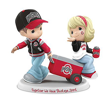 Licensed Ohio State Buckeyes Precious Moments Fans Figurine Collection