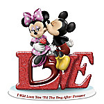 Disney - Letters Of Love Mickey Mouse & Minnie Mouse Figurine Collection