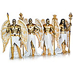 Empowering Guardian Angels By Keith Mallett Hand-Painted Sculpture Collection