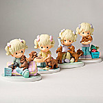 Precious Moments The Joy Of Dachshunds Handcrafted Figurine Collection