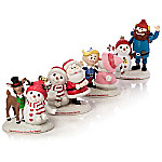 Precious Moments And Rudolph The Red-Nosed Reindeer - Snow Much Fun Together Hand-Painted Figurine Collection