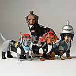 Live Fur-ee And Ride Hard Biker Dachshund Figurine Collection