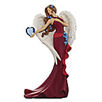 Thomas Kinkade Heartfelt Promises Heart Health Awareness Angel Figurine Collection